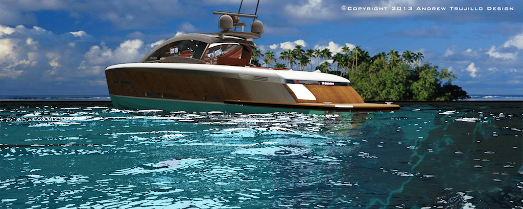 25m Wooden Motor Yacht Concept created by Andrew Trujillo