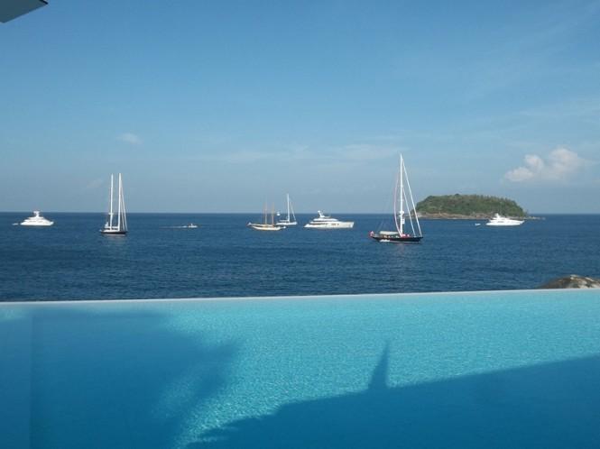 ASR 2013 - Kata Bay from Kata Rocks Resort - Photo Credit & Property of Asia Superyacht Rendezvous