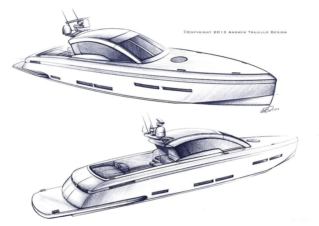 Wooden Motor Yacht Concept of 25m by Andrew Trujillo