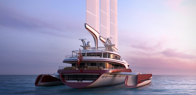 80m Dragonship superyacht - aft view