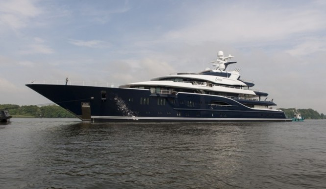 85m Lurssen mega yacht Solandge (Project Niki) - Photo by Klaus Jordan