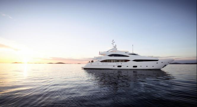 A Sunseeker 40m Yacht