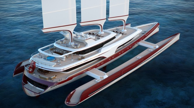 Dragonship 80m Yacht - aft view