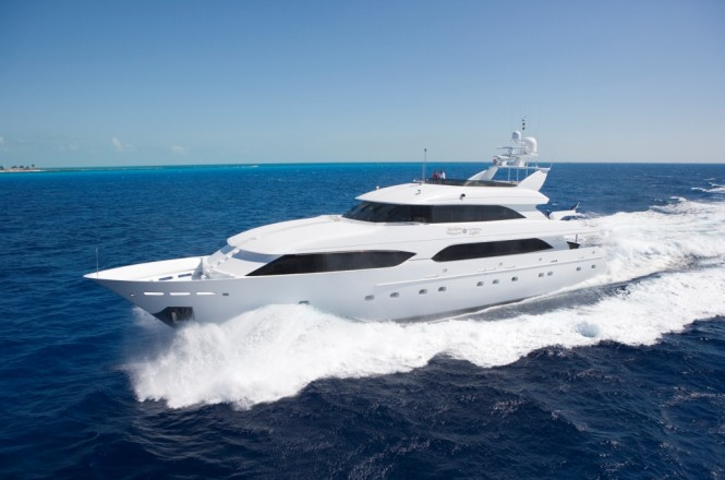 Luxury charter yacht NORTHERN LIGHTS repowered by Derecktor Florida