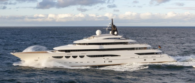Luxury mega yacht Quattroelle - Photo by Klaus Jordan