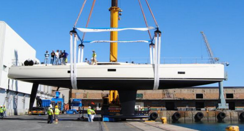 Luxury sailing yacht Grande Orazio at launch