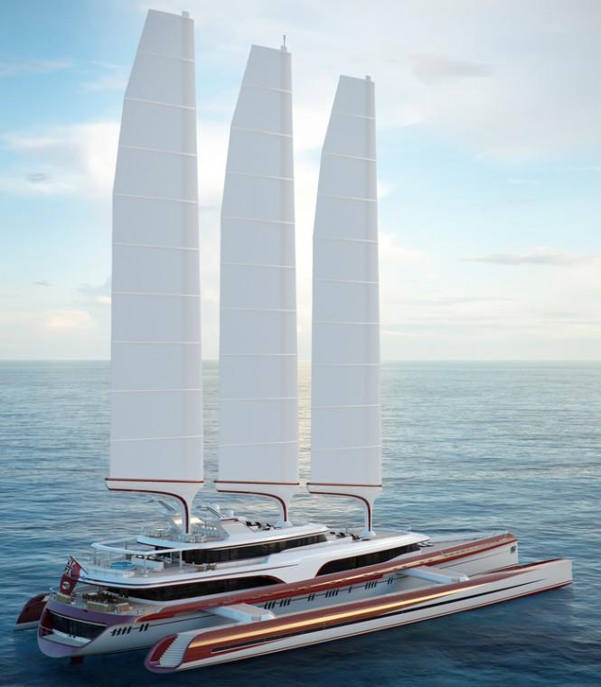 Sailing yacht Dragonship 80m