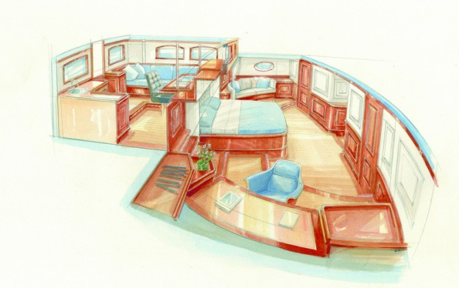 TC126 superyacht - Owners Cabin