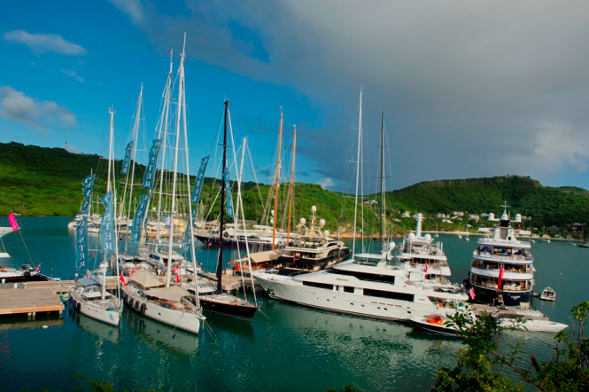 Yachts at the Antigua Yacht Show
