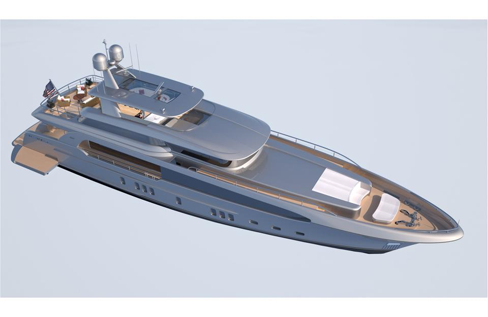 Burger 128 Yacht Concept from above