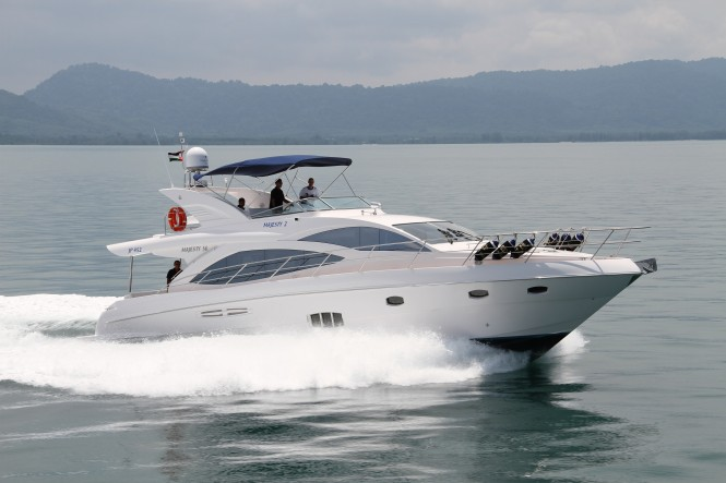 Gulf Craft motor yacht Majesty 56 on display at the 2014 CRN Eurasia Boat Show