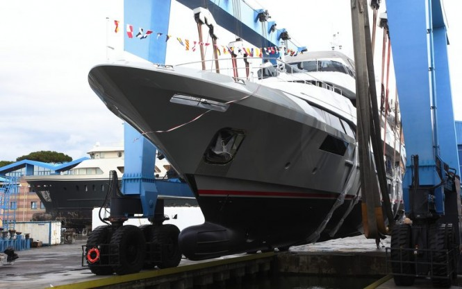 Luxury yacht BS003 by Benetti ready to hit the water