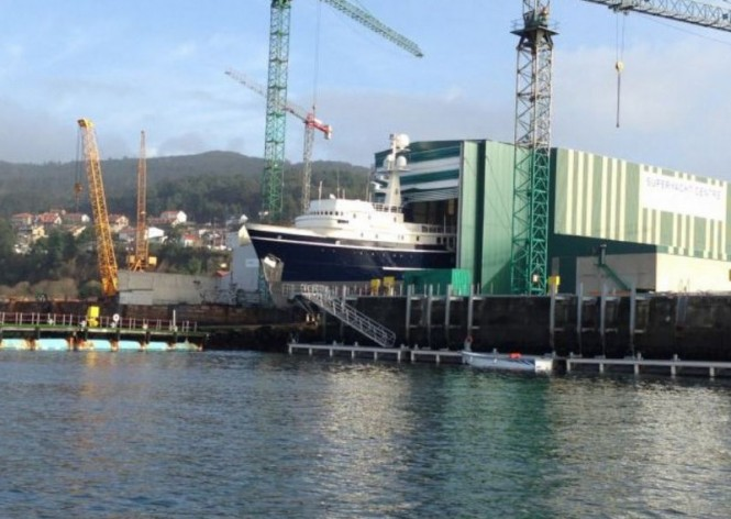 Motor yacht Seawolf at her re-launch