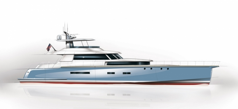 New American 92 Commuter yacht