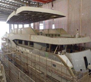Construction of 140' IAG motor yacht KingBaby in full swing