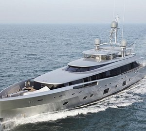 Recently launched 46m luxury yacht COMO with Feadship's pioneering use of glass