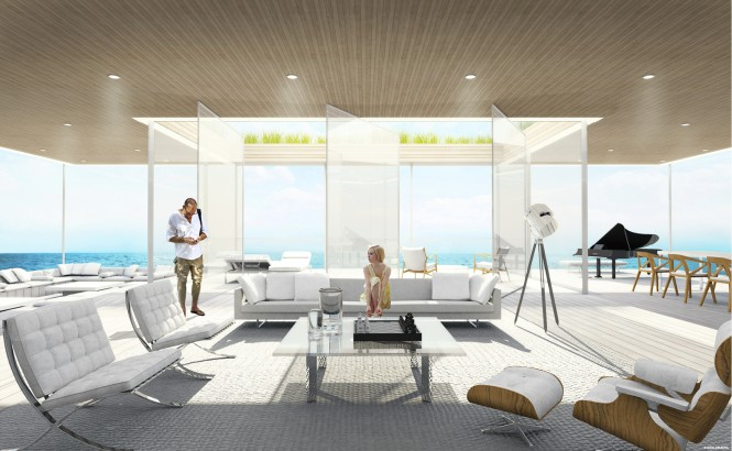Aboard motor yacht GLASS concept