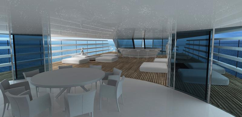 Atlantic Yacht Concept - Main Deck Terrace