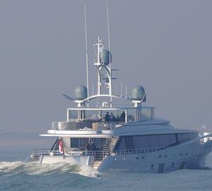 Additional photos of Feadship's COMO superyacht under sea trials