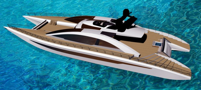 Equinox Yacht Concept from above