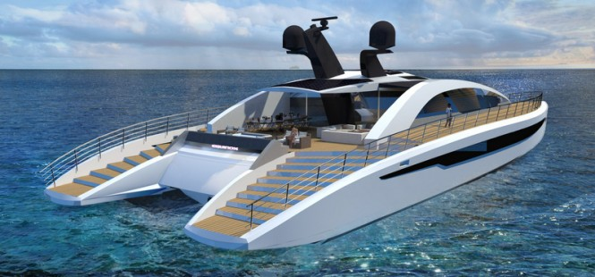 Equinox superyacht concept - aft view