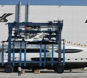 Launch of Ferretti Custom Line 124' motor yacht Hull #5 at CRN Ancona