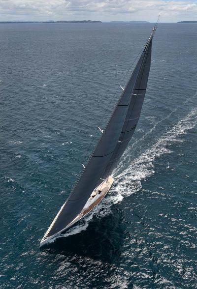 Indio superyacht under sea trial