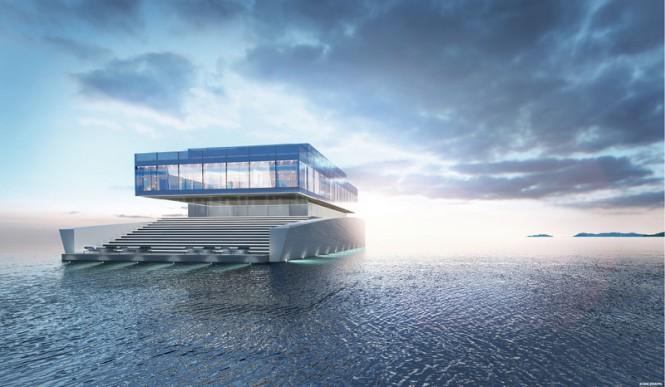 Luxury motor yacht GLASS concept by Lujac Desautel
