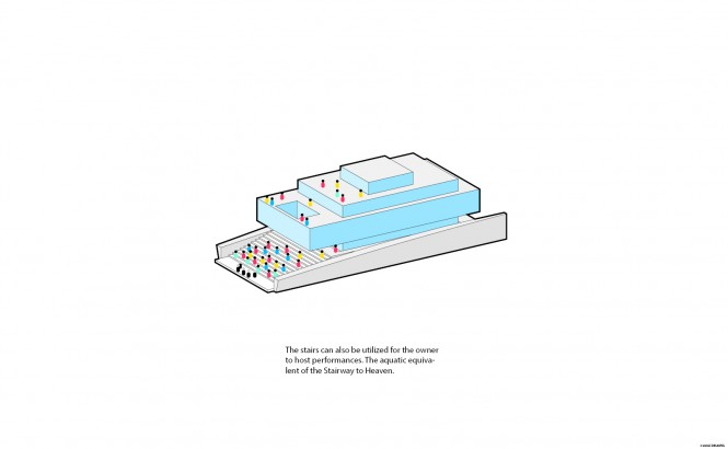 Luxury motor yacht GLASS design - Diagram