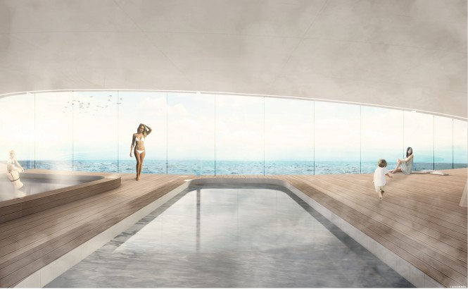 Luxury yacht GLASS concept - Swimming Pool