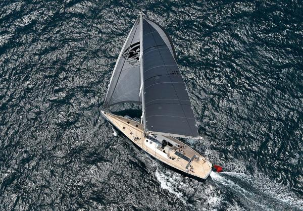 Luxury yacht Indio from above