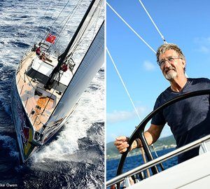 Video message from Eddie Jordan from aboard his Oyster 885 Yacht LUSH to Rob Humphreys