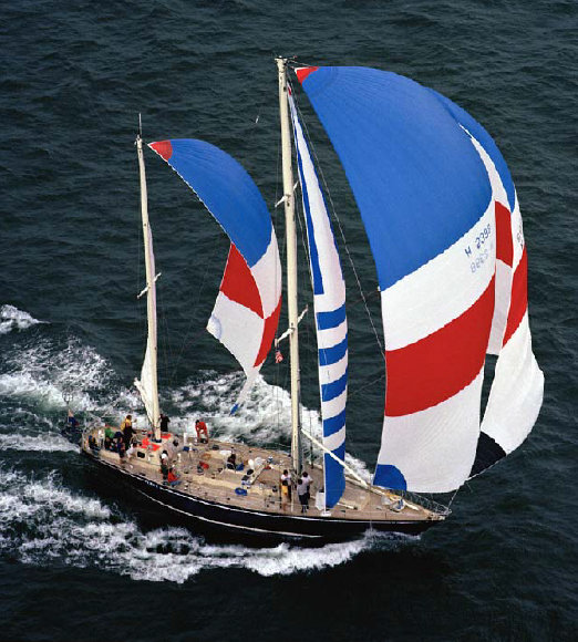 Royal Huisman Yacht FLYER at the 1977-78 Whitbread Round the World Race - Image credit to PPL Photo Agency