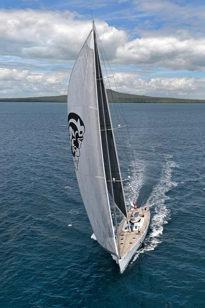 Wally 100 superyacht Indio with new Stratis ICE Sails
