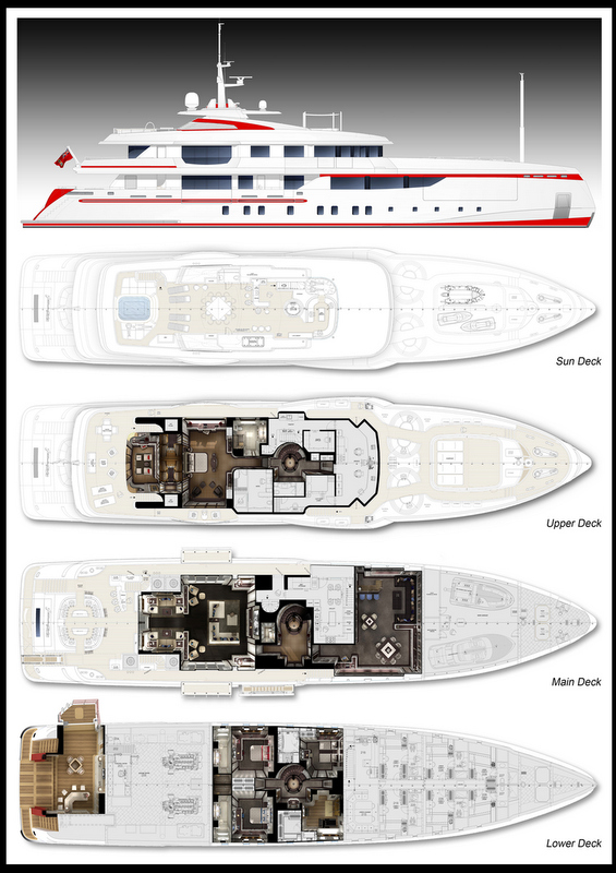 FOREVER ONE Yacht - General arrangement