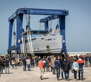 New 43m Granturismo motor yacht PHILMI launched by ISA Yachts