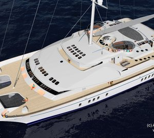 Sedlmayer Associates introduce 52m sailing catamaran SPECTRUM 52 design