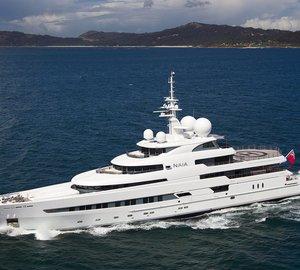 Refit of luxury expedition mega yacht NAIA (ex Pegaso) at Freire Shipyard
