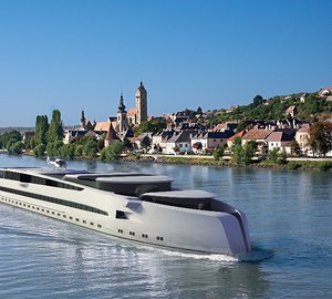Preliminary design for a Luxury River Yacht unveiled by Dorries Yachts