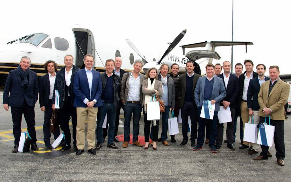 A select group of brokers hosted by the ISA Yachts shipyard in Ancona on Tuesday, March 25