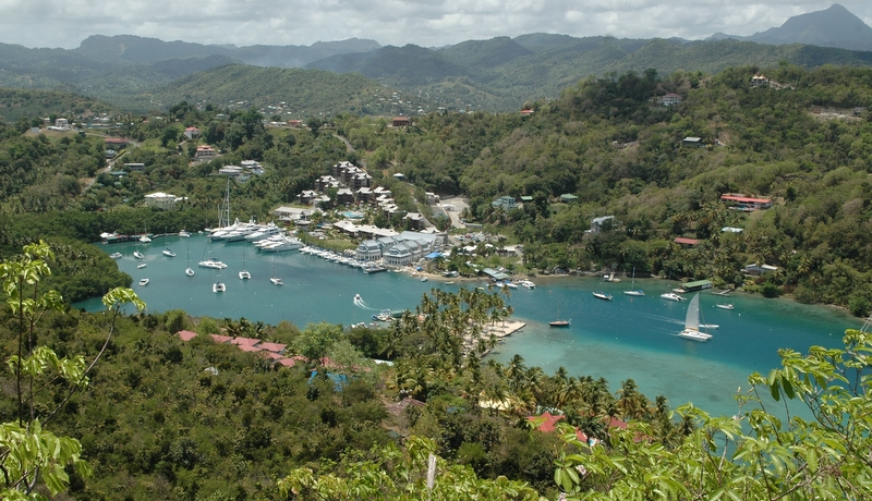 Capella Marina at Marigot Bay in the lovely Caribbean yacht charter destination - St Lucia