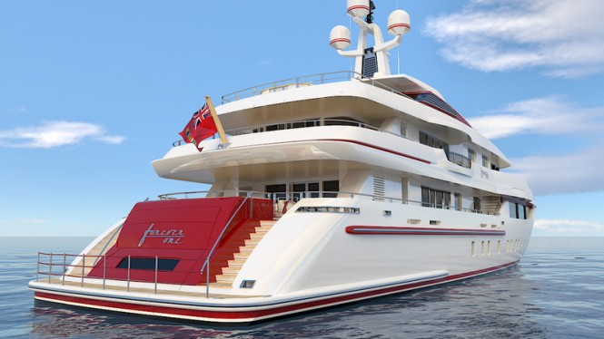 FOREVER ONE Yacht - aft view