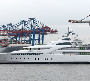 Sea trials for 82m Blohm + Voss mega yacht GRACEFUL