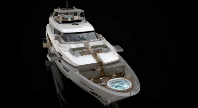 Luxury yacht SD126-40 Front View