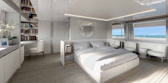 Luxury yacht SD126-40 Owners Cabin