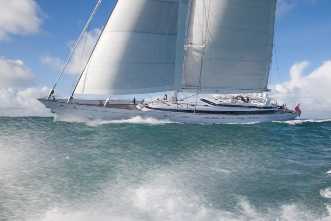 M5 sailing yacht - Sail trials Pendennis Andrew Wright photography