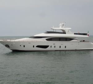 Maiora 27 motor yacht ANTARAH on display at Antibes Yacht Show 2014