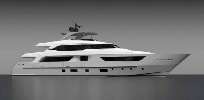 Rendering of Sanlorenzo superyacht SD126-40