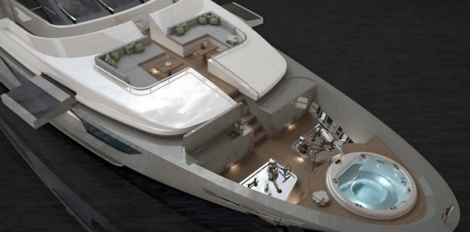 Sanlorenzo SD126-40 Yacht from above