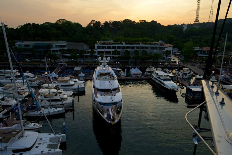 Singapore Yacht Show 2014 from above